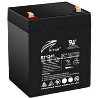 Батарея к ИБП Ritar AGM RT1245, 12V-4.5Ah, Black (RT1245B)