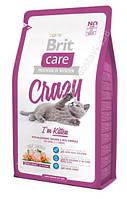 Сухой корм для котят Brit Care Cat Crazy I am Kitten 0,4 кг