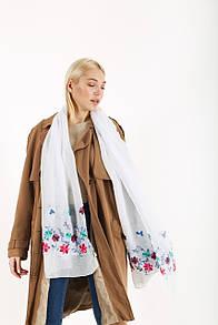 Торжественные шарфы FAMO Шарф Нела белый 180*80 (SV-01)