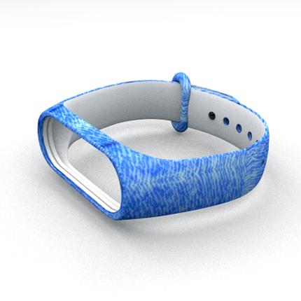 Силіконовий ремінець для фітнес браслета Xiaomi Mi Band 3 4 Blue Jeans Синій Джинс, фото 2