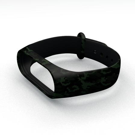 Ремешок для фитнес-браслета Xiaomi Mi Band 3 и Mi Band 4 Millitary Green