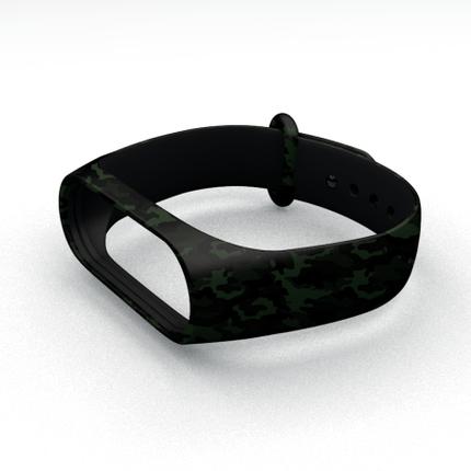 Ремешок для фитнес-браслета Xiaomi Mi Band 3 и Mi Band 4 Millitary Green, фото 2