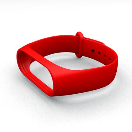 Ремешок для фитнес-браслета Xiaomi Mi Band 3 и Mi Band 4 Red, фото 2