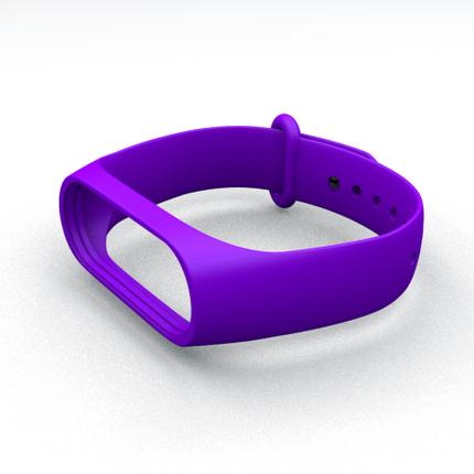 Ремешок для фитнес-браслета Xiaomi Mi Band 3 и Mi Band 4 Purple, фото 2