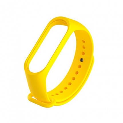Силиконовый ремешок для фитнес браслета Xiaomi Mi Band 3 4 Yellow Желтый, фото 2