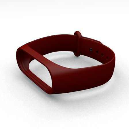 Ремешок для фитнес-браслета Xiaomi Mi Band 3 и Mi Band 4 Bordo