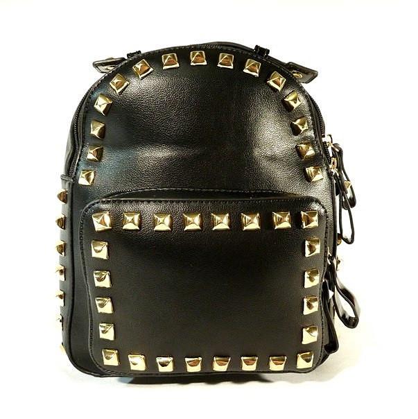 Рюкзак кожзам молодежный черный Bornie 81709