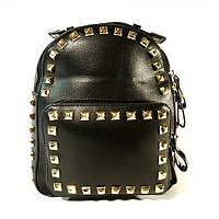 Рюкзак кожзам молодежный черный Bornie 81709, фото 1