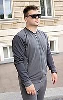 Чоловічий спортивний костюм сірий Грифон S, M, L, XL, XXL / мужской спортивный костюм серый кофта и брюки