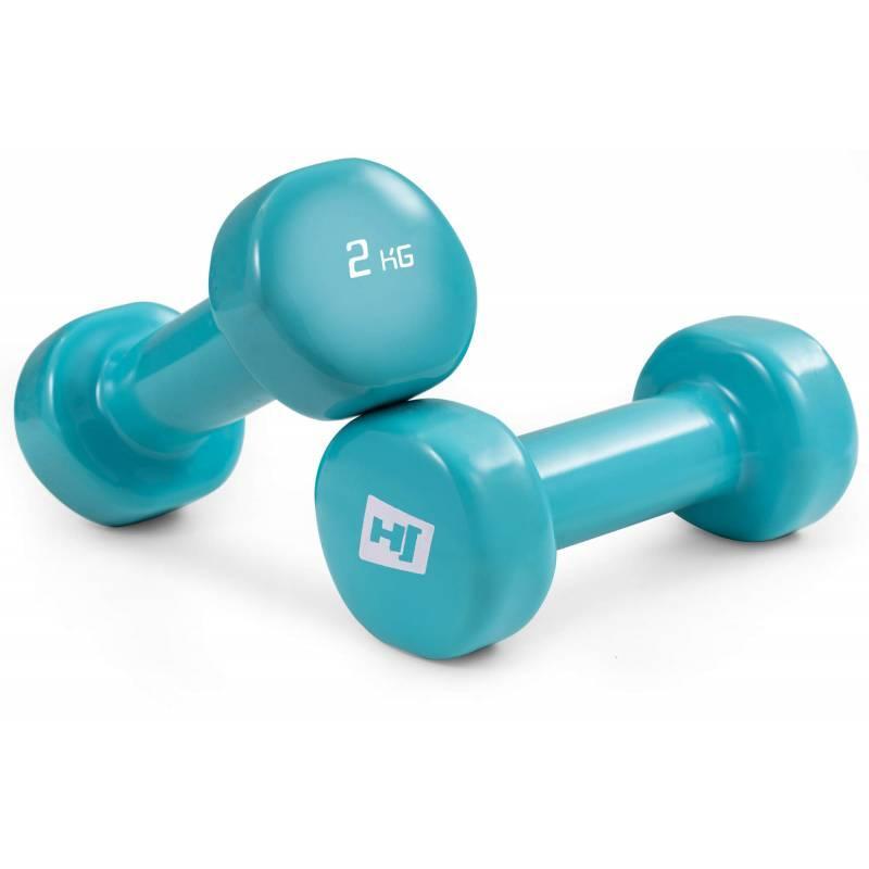 Гантели для фитнеса 2 шт. по 2 кг с виниловым покрытием HS-V020DC