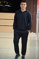 Чоловічий спортивний костюм Total Black S, M, L, XL, XXL / мужской спортивный костюм черный кофта и брюки