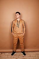 Чоловічий спортивний костюм з лампасами Карамель, S-XXL / мужской спортивный костюм кофта и брюки лампасы