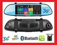 "Зеркало видеорегистратор D36 7"" сенсор 2 камеры GPS-навигатор WiFi 16Gb 3G"