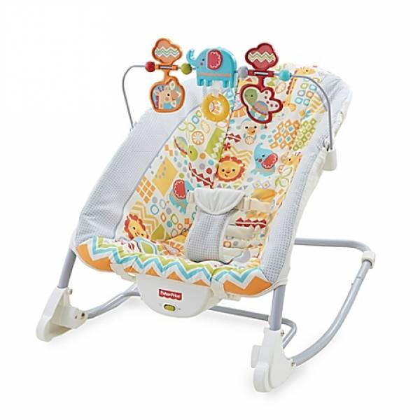 Fisher-Price Кресло шезлонг Животное царство 2 в 1 Deluxe Infant-To-Toddler Rocker, Animal Kingdom