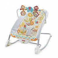 Fisher-Price Кресло шезлонг Животное царство 2 в 1 Deluxe Infant-To-Toddler Rocker, Animal Kingdom, фото 1