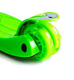 Самокат детский Maxi складной руль колеса светяться. Green., фото 5
