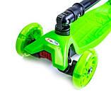 Самокат детский Maxi складной руль колеса светяться. Green., фото 4