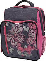Рюкзак школьный Bagland Школьник 8 л. Серый/розовый (00112702)