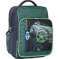 Рюкзак школьный Bagland Школьник 8 л. Серый (машина 16) (00112702), фото 1
