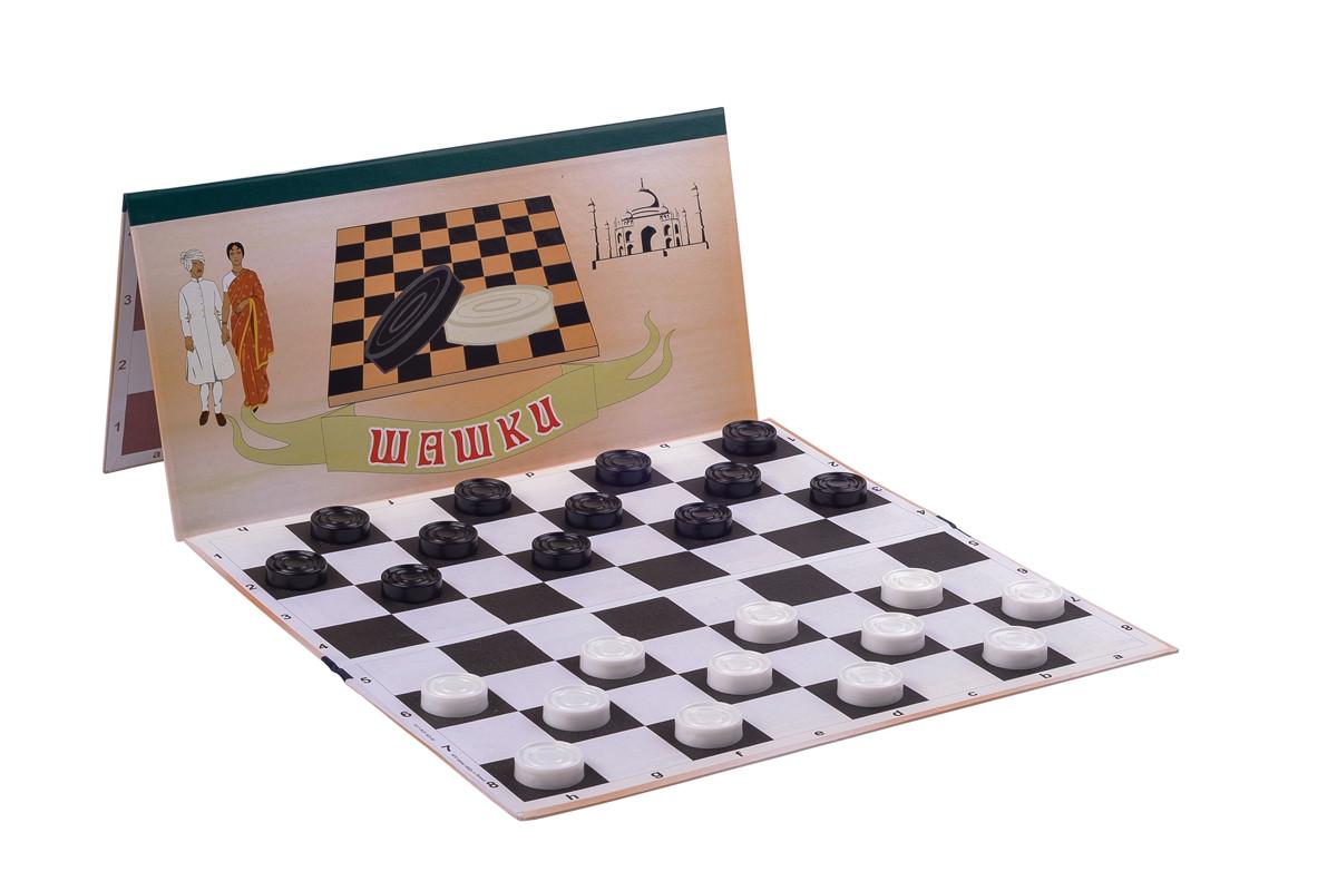 Доска для шашек, шахмат 64 клетки (35см х 35см)