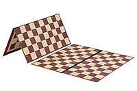 Доска для шашек и шахмат двухсторонняя на 64 и 100 клеток (40см х 40см)