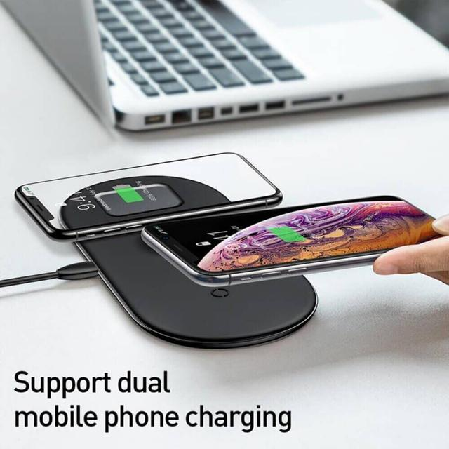 Беспроводная зарядка Baseus Wireless Charger Smart 3 в 1 WX3IN1-01 Черное