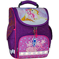 Рюкзак школьный каркасный с фонариками Bagland Успех 12 л. фиолетовый 387 (00551703), фото 1
