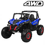 Дитяча машина M 3602EBLR-4 Баггі, 4WD, синій, до 50 кг, до 7 км/год, фото 5