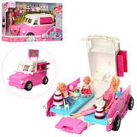 Лялька K899-50 2 доньки, машинка (кафе на колесах), аксесуари, кор., 51-21-24,5 см., фото 1