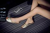 Шлепанцы женские золотистые Б769, фото 4
