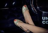 Шлепанцы женские золотистые Б769, фото 6