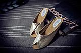 Шлепанцы женские золотистые Б769, фото 8