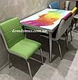 """Комплект обеденной мебели """"Acilir""""  90*60 см (стол ДСП, каленное стекло + 4 стула) Mobilgen, Турция, фото 2"""