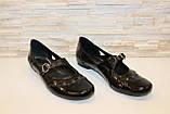 Туфли женские черные натуральная кожа Т91, фото 3