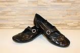 Туфли женские черные натуральная кожа Т91, фото 4