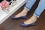 Балетки женские синие Т643, фото 3
