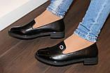 Туфли женские черные на маленьком каблучке Т807, фото 4