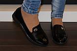 Туфли женские черные на маленьком каблучке Т807, фото 5