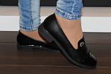 Туфли женские черные на маленьком каблучке Т807, фото 6