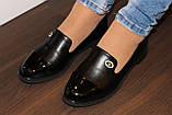 Туфли женские черные на маленьком каблучке Т807, фото 8