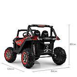 Дитяча машина M 3602EBLRS-3-2, 4WD, червоний з чорним, автопокраска, фото 7