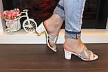 Шлепанцы женские белые на каблуке Б245, фото 7