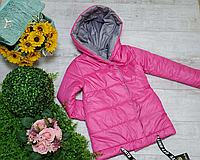 Двухсторонние детские куртки для девочек весенние на рост 146-164