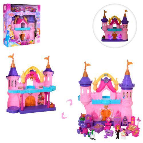 Замок SG-2974 38-43-14см, меблі, фигурки2шт, 7см, суз, світло, на бат-ке, в кор-ке, 44-50-15см