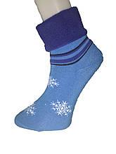Шкарпетки жіночі махра Tommy відворот сніжинка люрекс