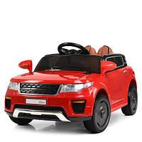 Детская машина M 5396EBLR-3, пульт 2,4G, 2 мотора, колеса EVA, кожаное сиденье, красная