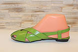 Босоножки женские салатовые натуральная кожа Б210, фото 2