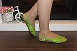 Босоножки женские салатовые натуральная кожа Б210, фото 3