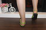 Босоножки женские салатовые натуральная кожа Б210, фото 4