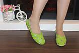 Босоножки женские салатовые натуральная кожа Б210, фото 5